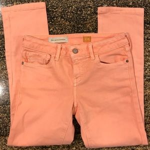Anthropologie Pilcro crop pants. Size 26. Peach